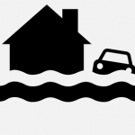 Flood symbol created by Levees.org web designer Stanford Rosenthal is registered as a universal icon.